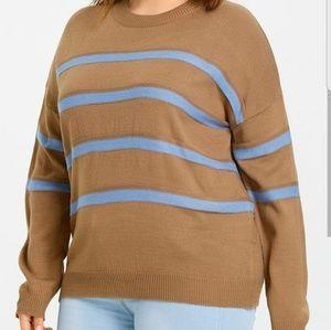 Sweaters - 🆕Drop Shoulder Stripe Sweater